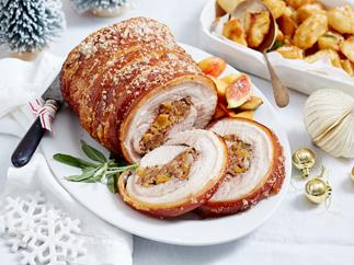 rolled pork roast with stuffing