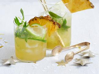 pineapple and ginger mojito