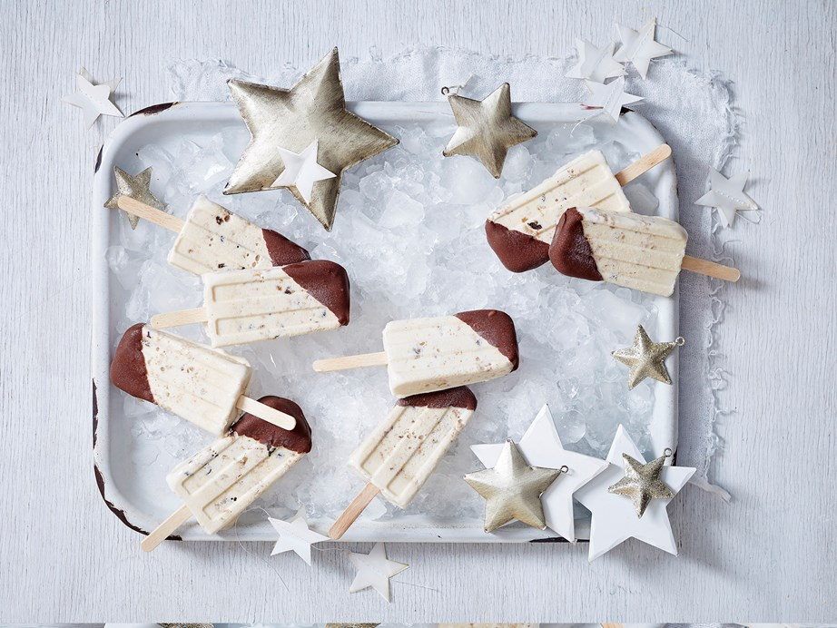 "**[Ice-cream pudding and shortbread pops](https://www.womensweeklyfood.com.au/recipes/ice-cream-pudding-and-shortbread-pops-2823|target=""_blank"")** Leftover Christmas treats are here reinvented into a tasty summer snack that'll keep festive cheer alive."