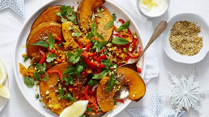 pumpkin and capsicum salad