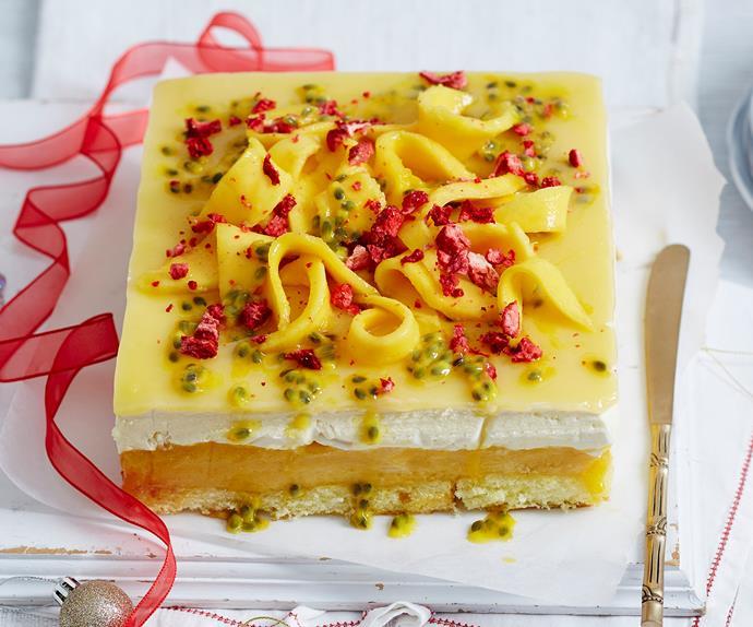 mango sorbet cake