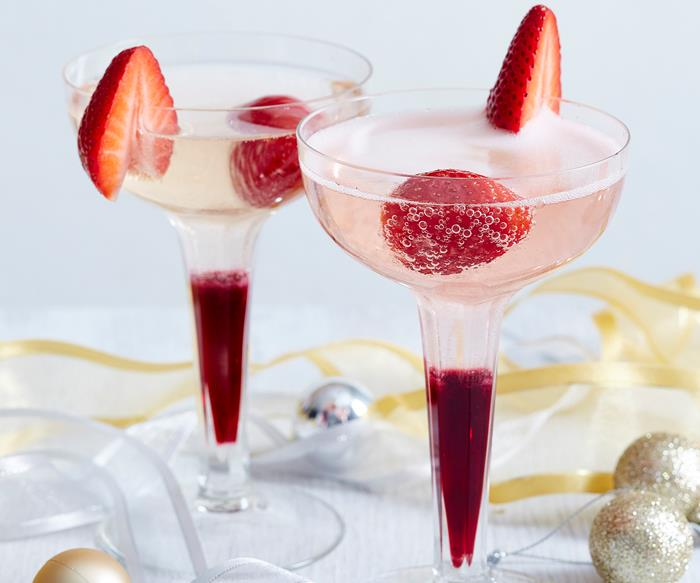 strawberry hibiscus cocktail