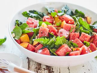 Watermelon and basil salad