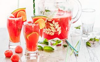 Watermelon and ginger ale cooler