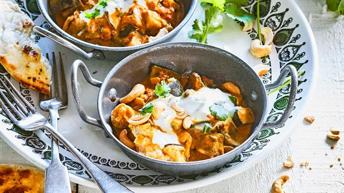 Roasted eggplant curry