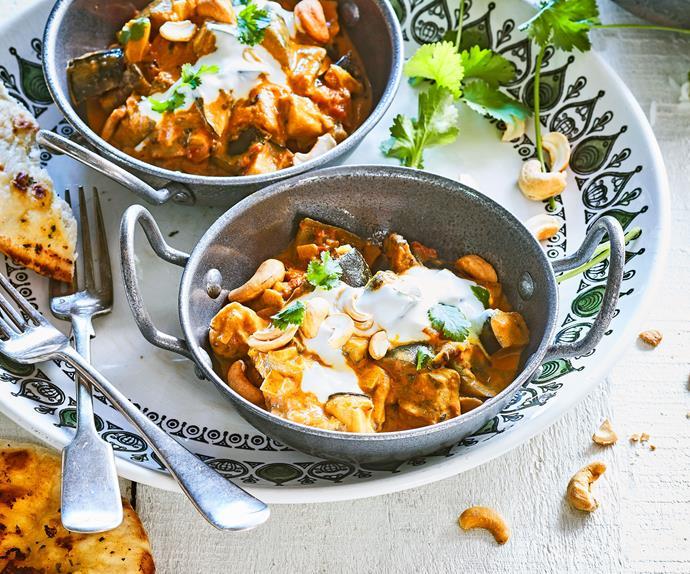 Roasted eggplant curry