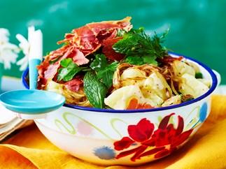 potato salad with prosciutto and dill