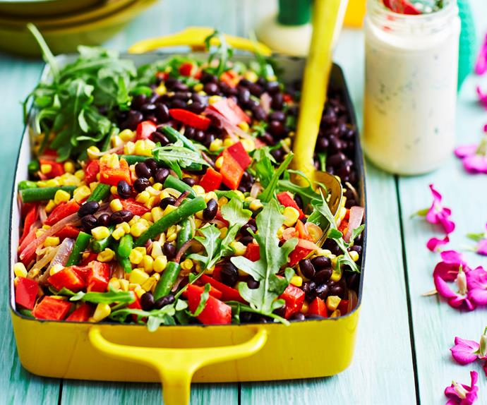 mexican corn salad with black beans