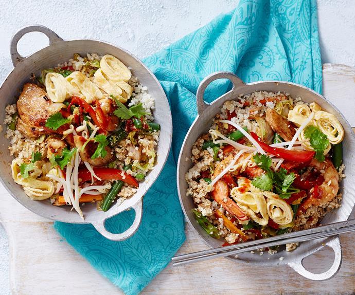 cauliflower fried rice chicken