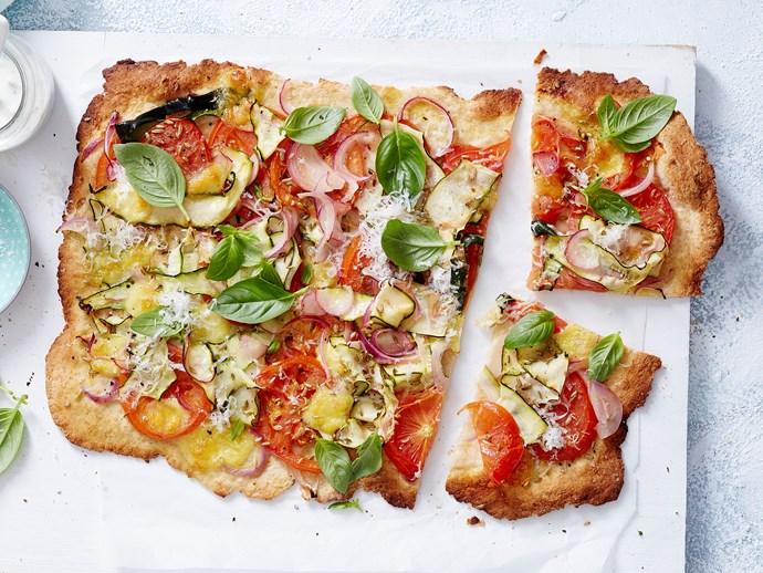 zucchini tomato pizza topping