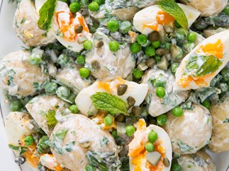 Herby potato, pea and egg salad