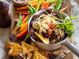 Hot chipotle bean dip