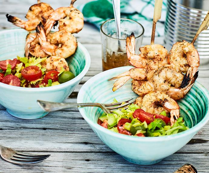 Prawns with Bloody Mary salad