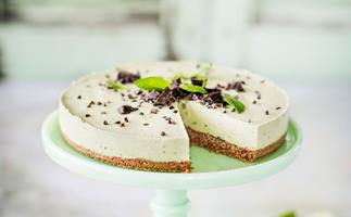 Avocado, mint and lime cheesecake