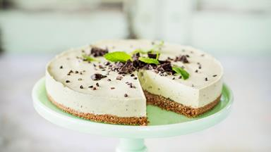 No-bake avocado, mint and lime cheesecake