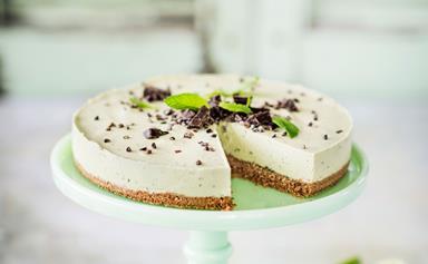 No-bake avocado, mint and lime cheesecake