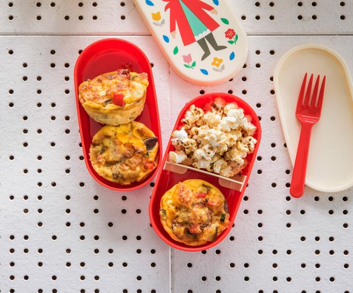 Mini muffin pan vegetable and cheese frittatas