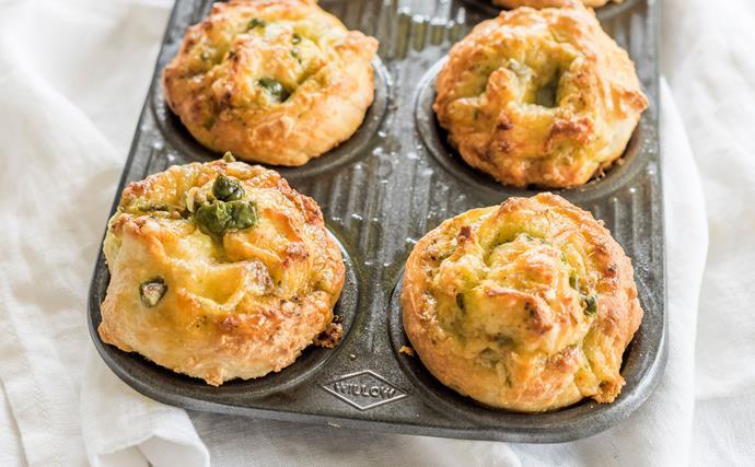 Easy olive pinwheel scones