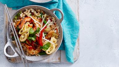 Chicken and prawn nasi goreng with cauliflower rice