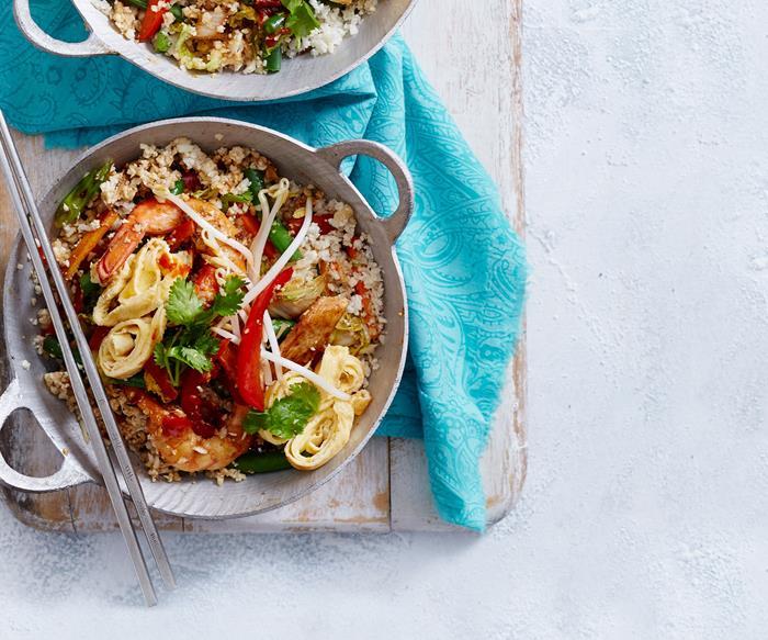 Nasi goreng with cauli rice