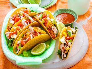 Piri piri chicken and corn tacos