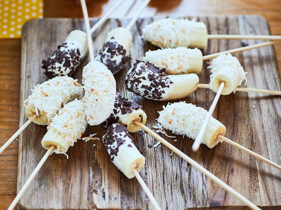 """[Frozen bananas dipped in yoghurt, coconut and chocolate](https://www.foodtolove.co.nz/recipes/frozen-bananas-dipped-in-yoghurt-coconut-and-chocolate-8202