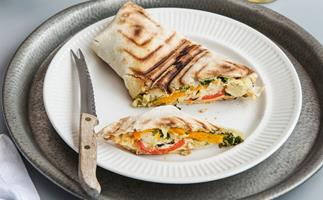 Vege and cheese wrap
