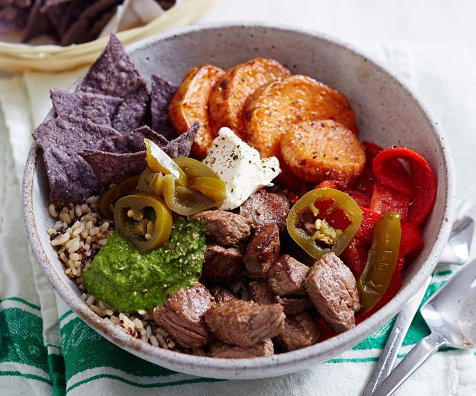 Argentinian beef poke bowl