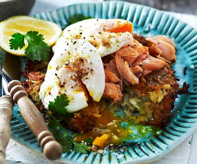 Sweet potato rosti with salmon