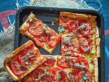 Easy tomato and anchovy tart with thyme