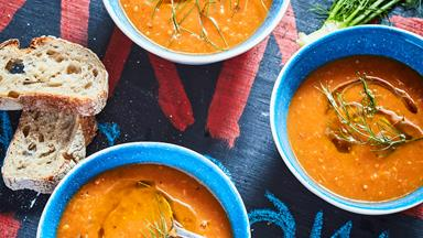 French-style chilled tomato and fennel soup