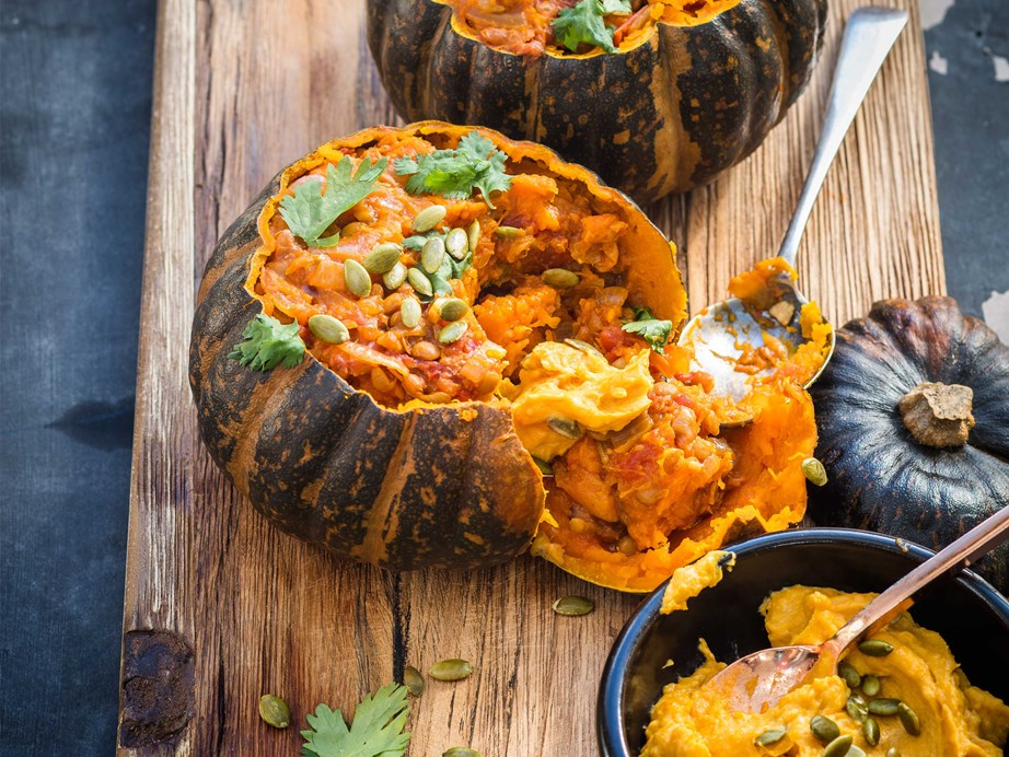 "[Whole roasted buttercup squash with spiced lentils](https://www.foodtolove.co.nz/recipes/whole-roasted-buttercup-squash-with-spiced-lentils-8262|target=""_blank"")"