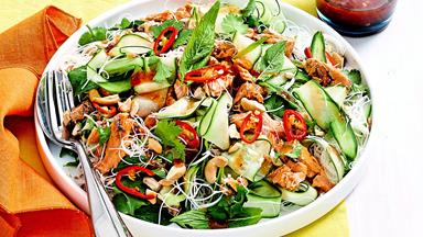 Thai-style salmon and vermicelli salad with sweet chilli dressing