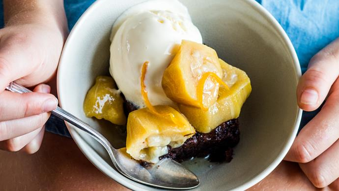 Poached feijoas with orange, cinnamon and spices