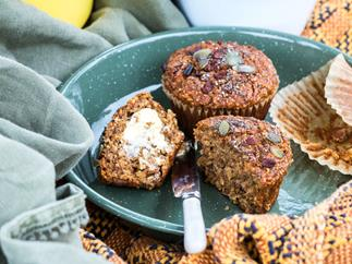 Great-start-to-the-day banana bran muffins
