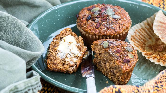 Great-start-to-the-day banana bran muffins