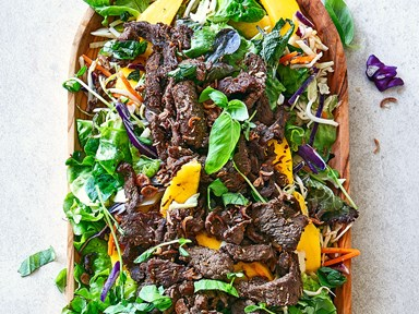 Vietnamese beef and mango salad with sweet chilli dressing