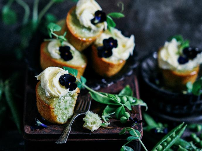 """**[Sweet pea friands](https://www.womensweeklyfood.com.au/recipes/sweet-pea-friands-2955