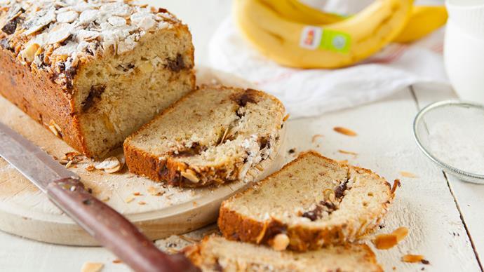 Banana, coconut and chocolate loaf
