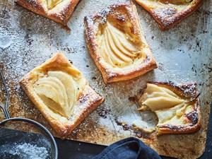 Mum's homemade pear and honey Danish pastries