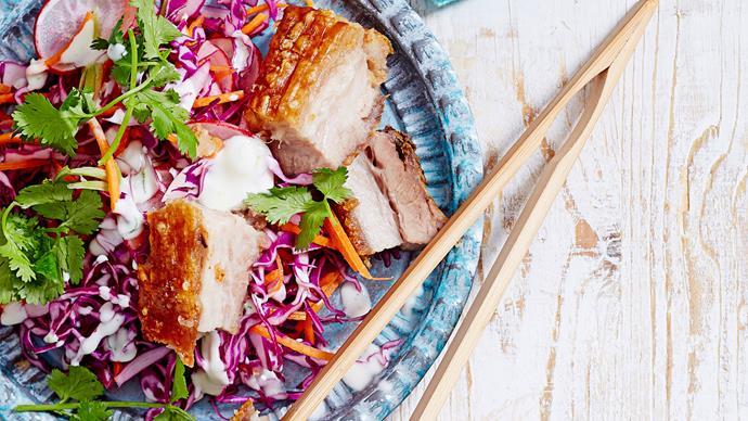 Hawaiian pork with slaw