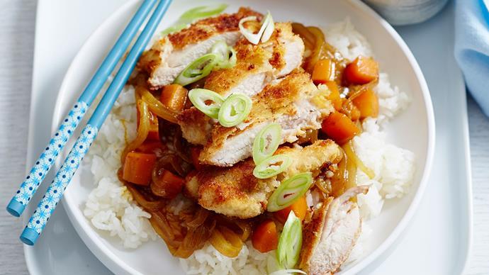 Japanese katsu chicken curry