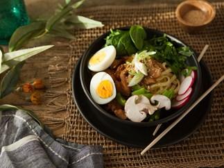 Japanese style Ramen noodle soup