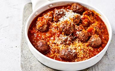 Spicy lamb meatball ragu