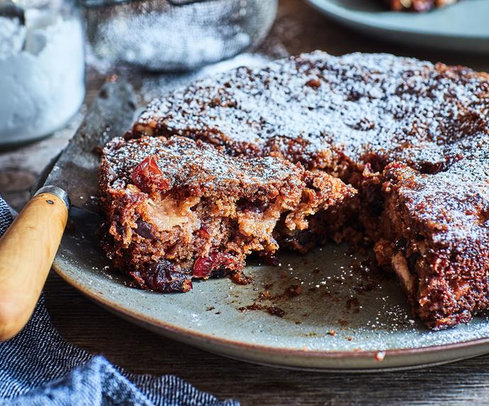 Feijoa walnut cake