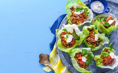 Mexican larb cups
