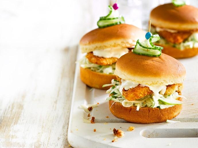 "[Fennel slaw and crispy fish sliders](https://www.foodtolove.co.nz/recipes/fennel-slaw-and-crispy-fish-sliders-8445|target=""_blank"")"