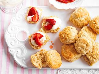 Rose and vanilla scones