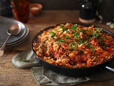 One-pan Spanish beef and rice