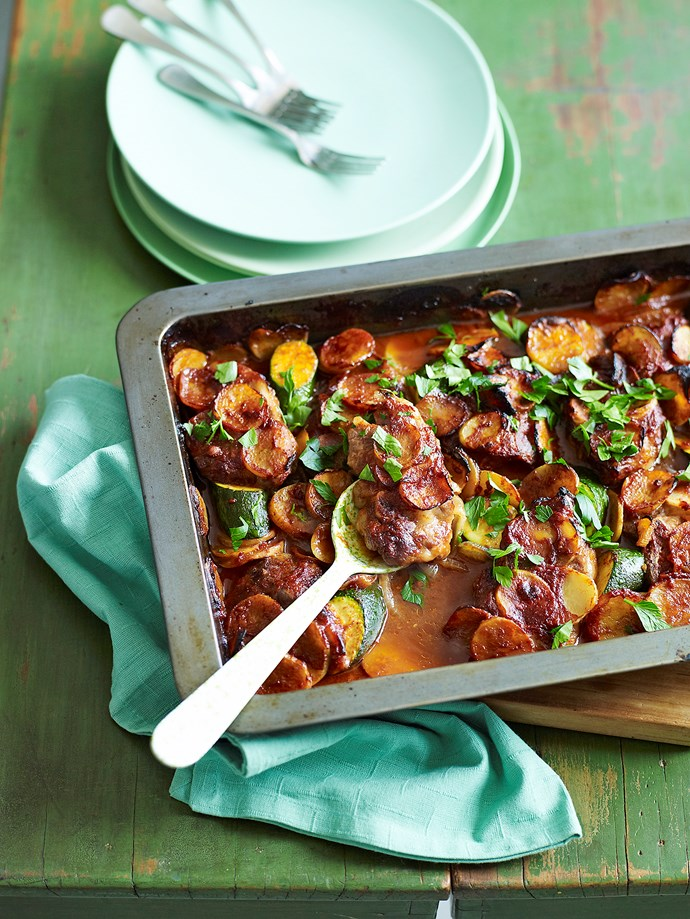 Lamb chop and potato bake